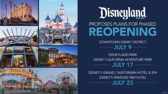 disneyland reopening announcement