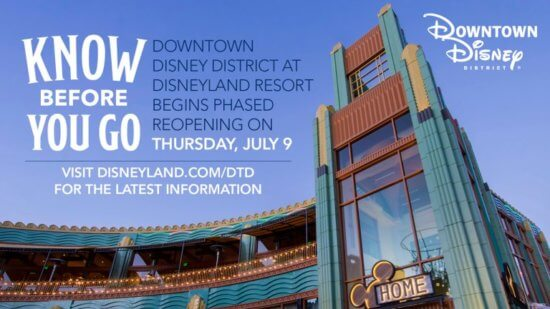 downtown disney reopening guidelines