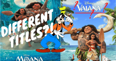 Disney movies with different titles outside America