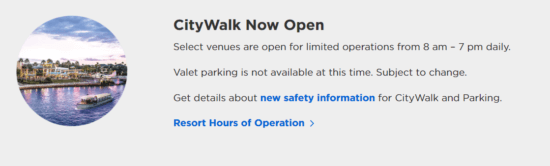 citywalk hours
