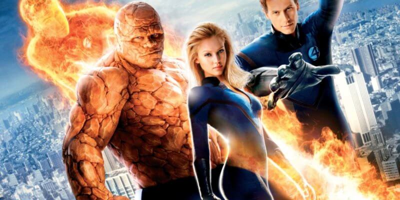 Fantastic Four L-R: Human Torch, Thing, Invisible Woman, Mister Fantastic
