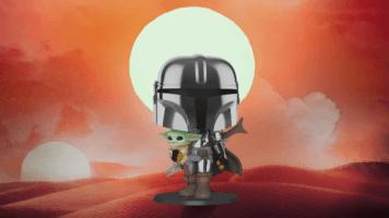 Mandalorian and Baby Yoda Funko Pop