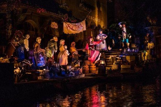 disney world pirates of the caribbean auction scene