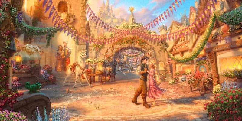 Rapunzel Dancing in the Sunlit Courtyard