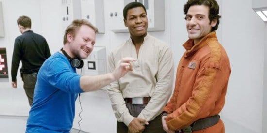 Rian Johnson on Star Wars set