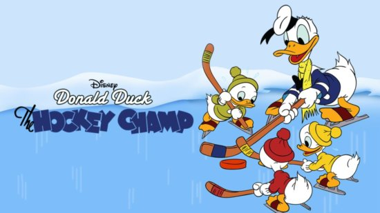 """Donald Duck in """"The Hockey Champ"""""""
