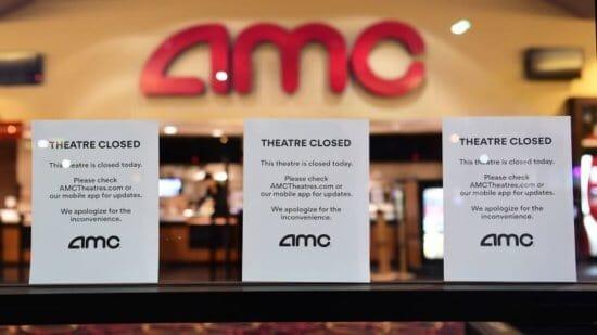 AMC theatre closed signs
