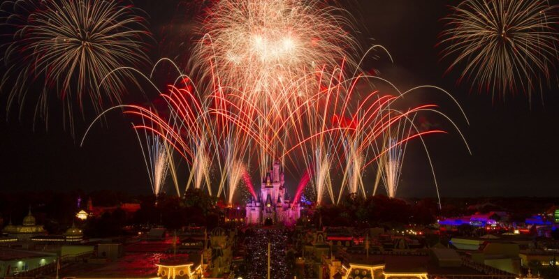 Magic Kingdom Fireworks Fourth of July
