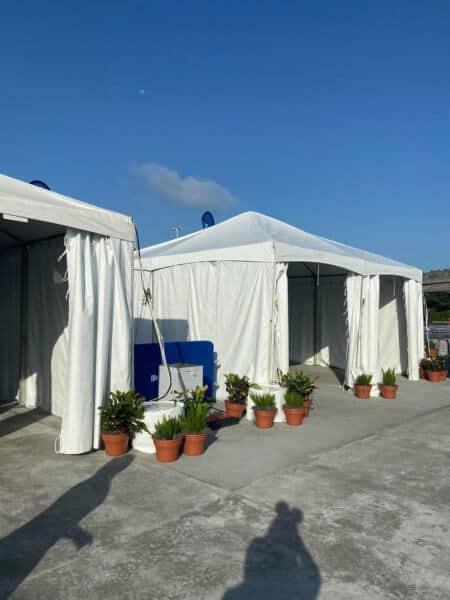 temp screening tents