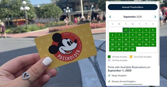 Annual Passholder Park Pass Availability