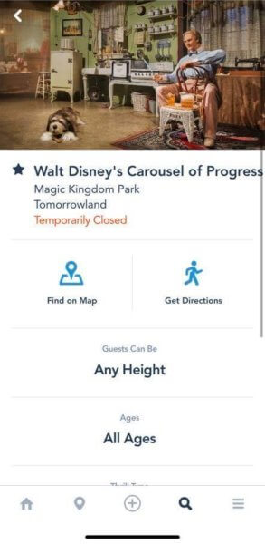 Carousel of Progress Temporarily Closed