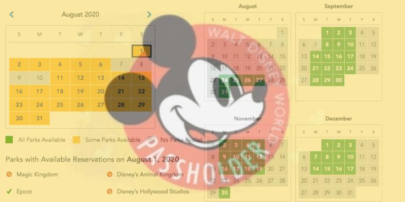 Disney World Annual Passholder Park Pass Availability