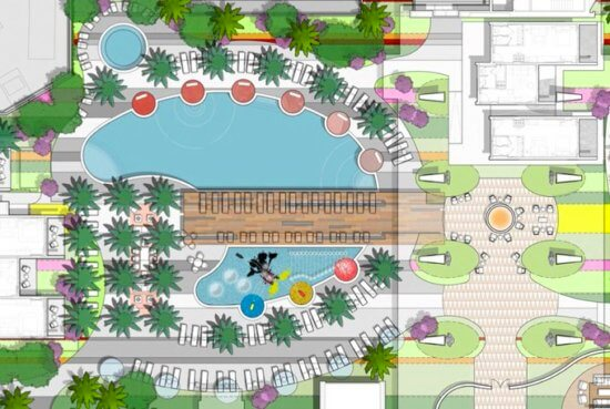 DVC Tower, Disneyland Hotel, concept art