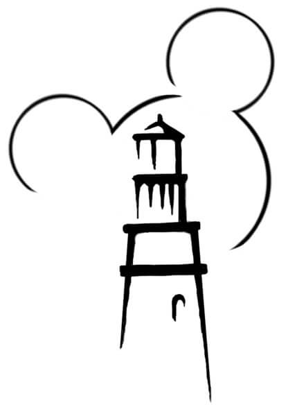 Mickey and Minnie Lighthouse Cove Silkscreen