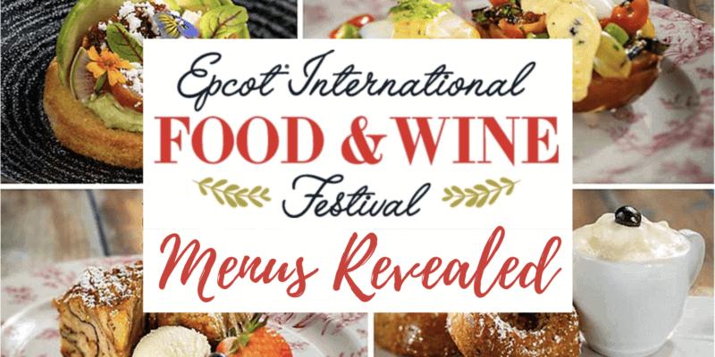 food and wine menus header