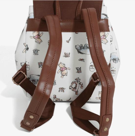 pooh mini backpack back view