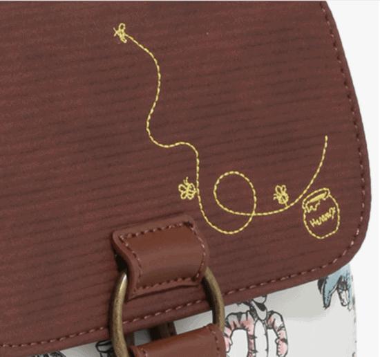 pooh backpack detailing