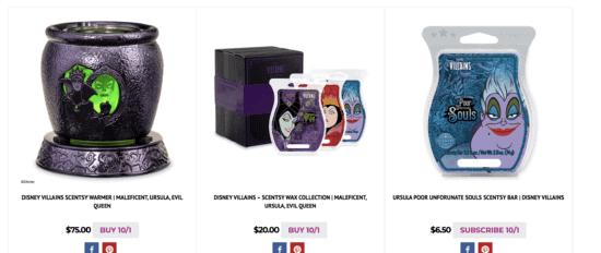 villain scentsy pricing