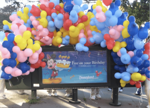 promotion disney free on your birthday