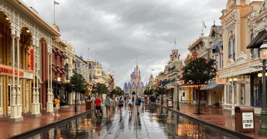 Magic Kingdom in the rain