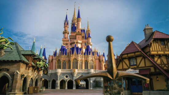 cinderella castle transformation finished