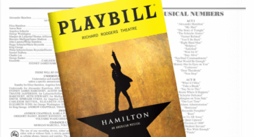 Hamilton playbill header