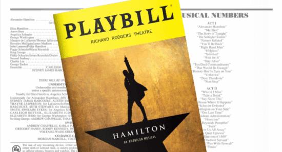 Hamilton playbill header