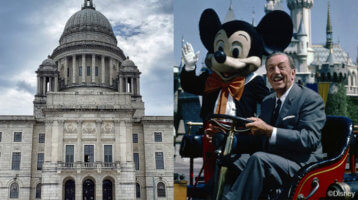 Rhode Island capital building and mickey mouse