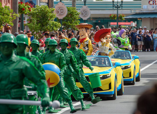 Toy Story character cavalcade