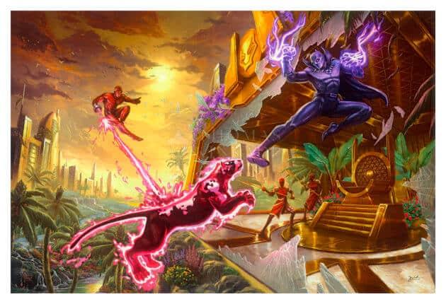 Thomas Kinkade Studios Black Panther