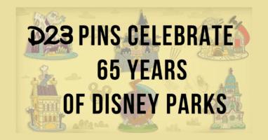 D23 pins set header 65th anniversary