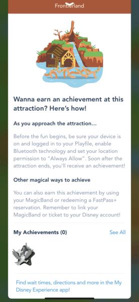 Splash Mountain Achievement, Play Disney Parks App