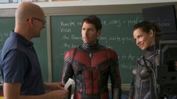 Paul Rudd and Evangeline Lily with Peyton Reed