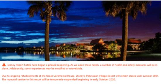 Disney's Polynesian Website