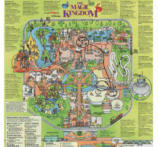 magic kingdom map escape room