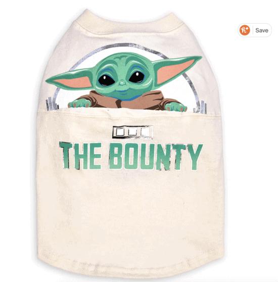 the bounty baby yoda dog jersey