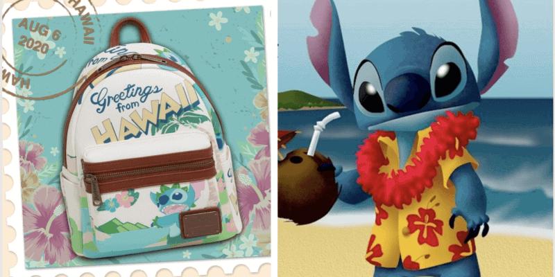 stitch hawaii backpack header