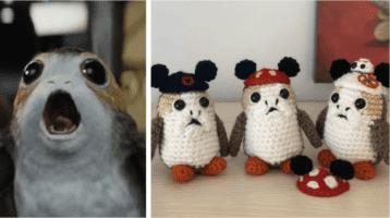 crocheted porg header