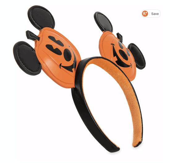 size view mickey pumpkin ears