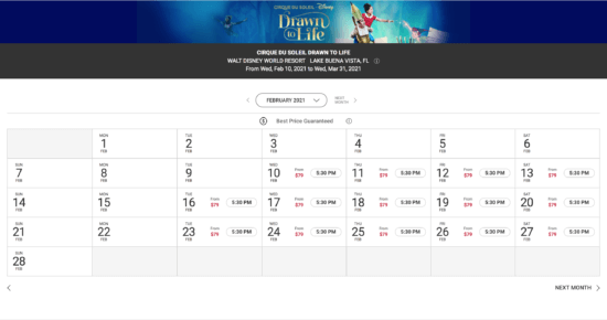 """""""Drawn to Life"""" Show Schedule"""