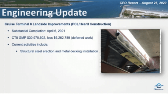 canaveral terminal 8 dcl update