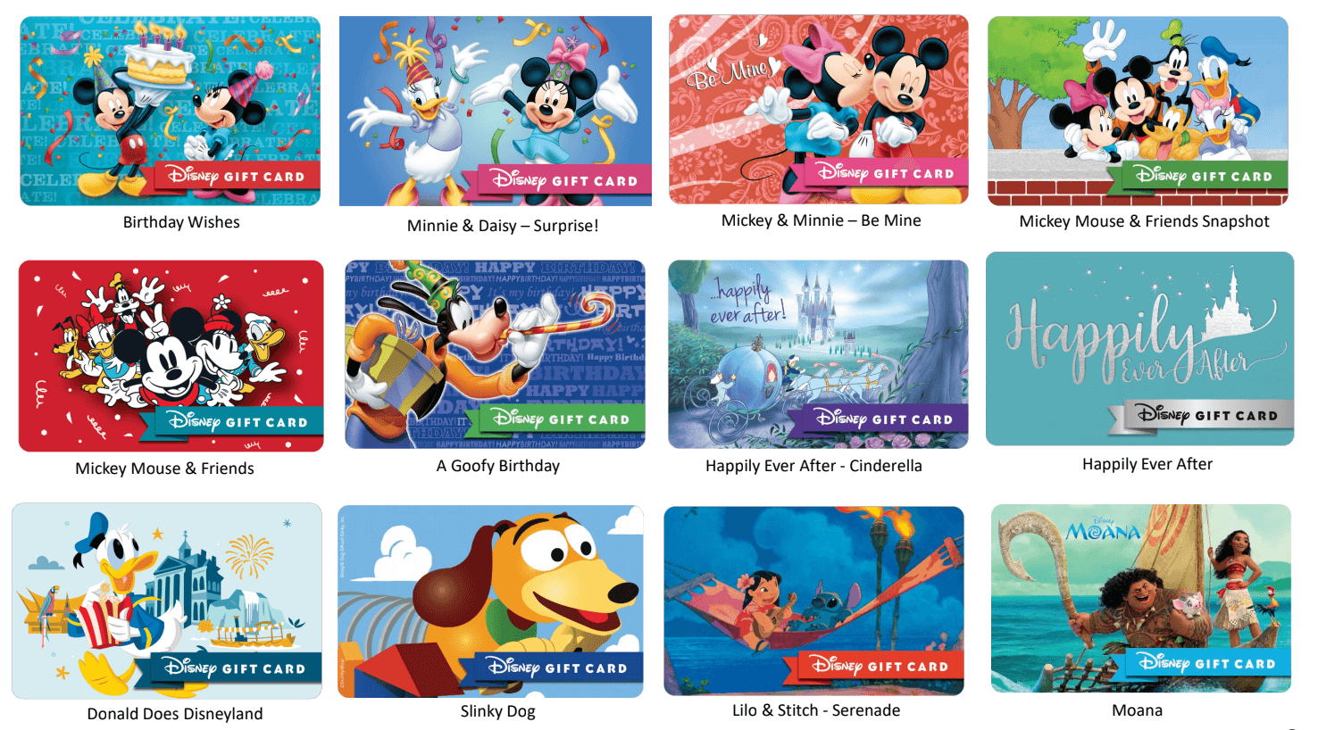 Classic Disney Gift Cards