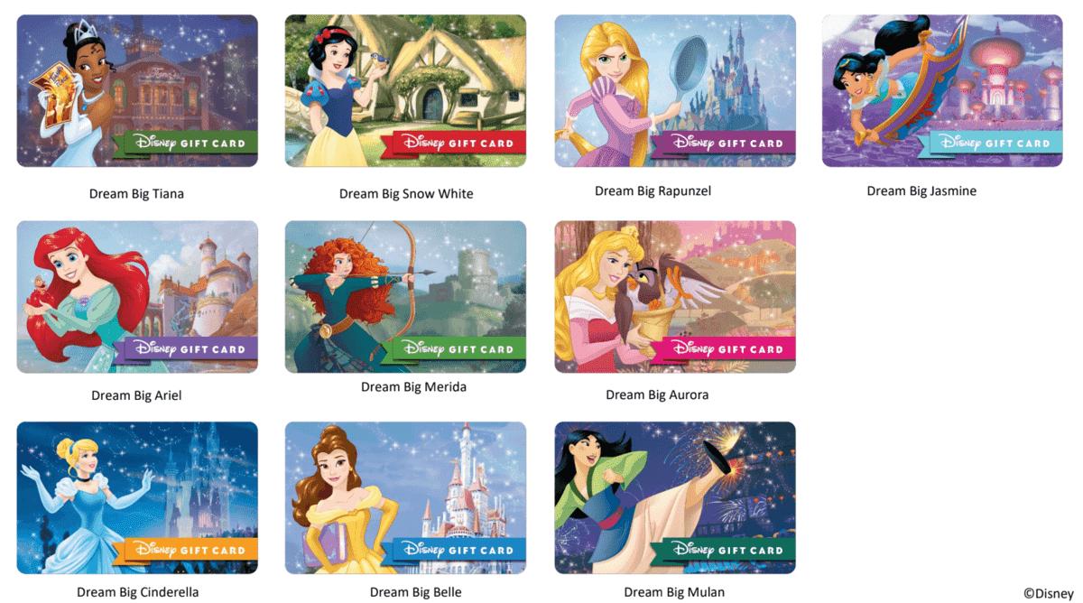 Disney princess gift cards