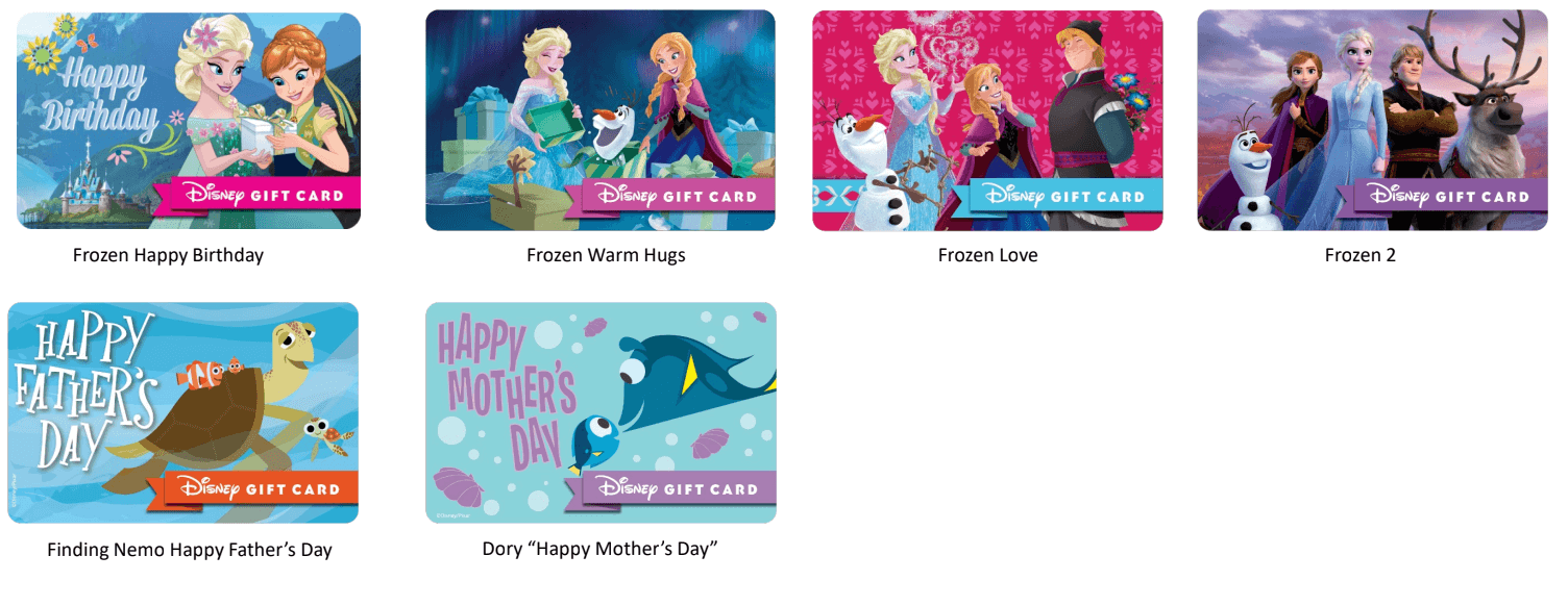 special occasion disney gift cards