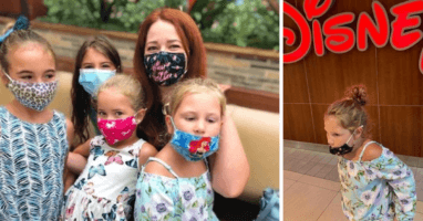 family asked to leave disney store