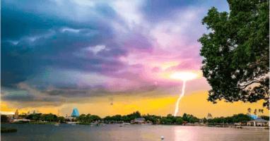 Lightning strike Disney World