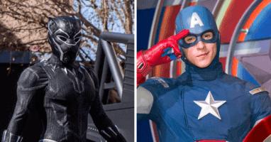 avengers campus super hero performers
