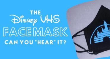 VHS DIsney face mask