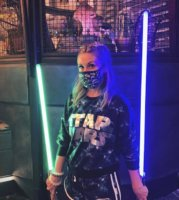 Ashley Eckstein with New Legacy Lightsabers