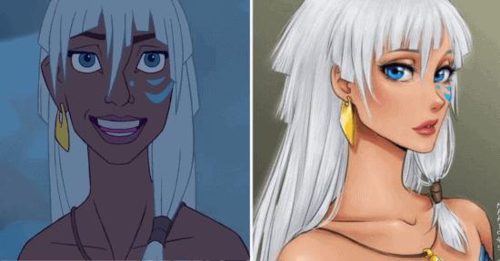 disney princesses as anime